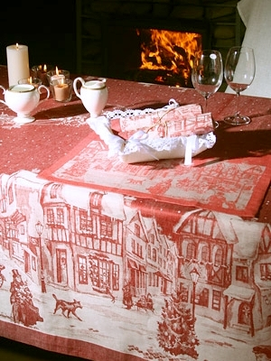 table linen table cloth Christmas Pure Linen Perth Australia buy online